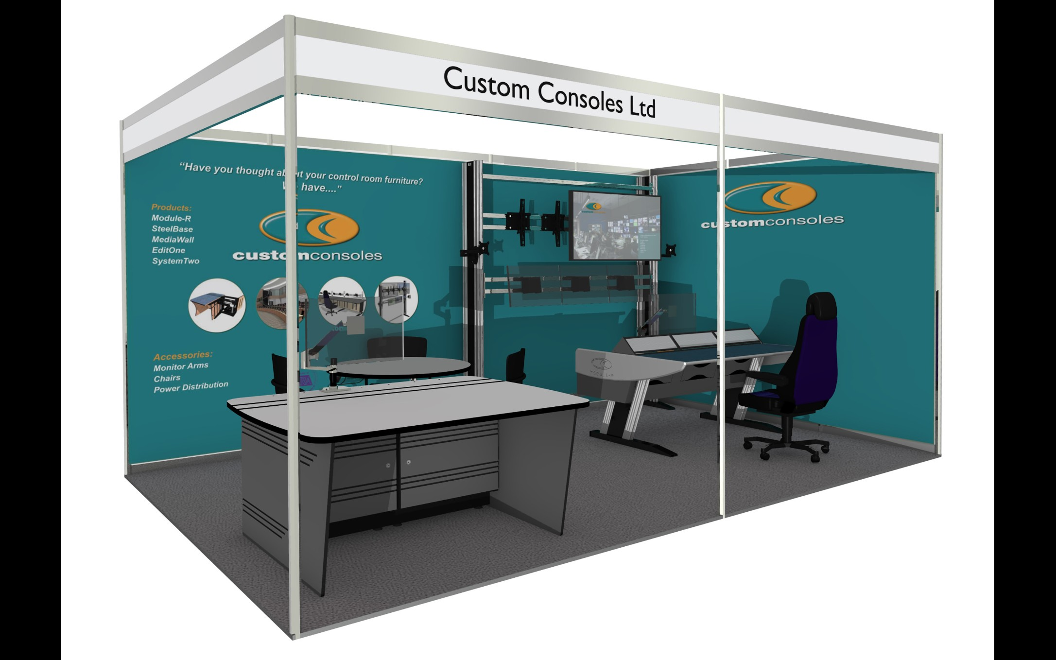 Custom Consoles to Introduce Latest SteelBase Desk at British-Irish Airports Expo 2019