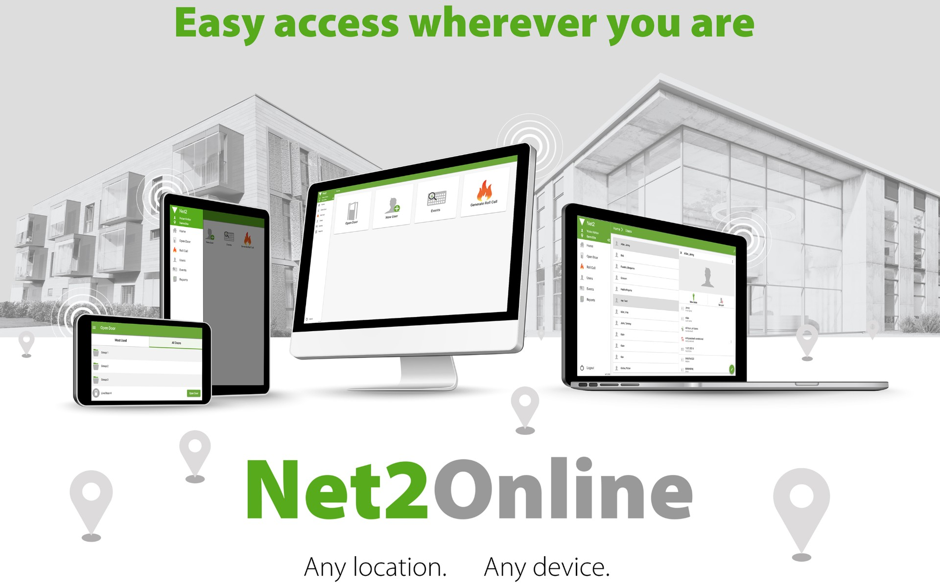 New User Interface Makes Net2 Accessible from Any Location, on Any Device