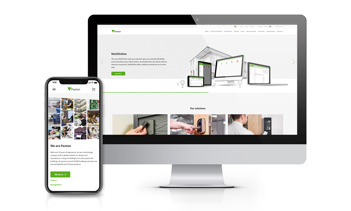 Designed by installers, created by Paxton - technology company launches new global website