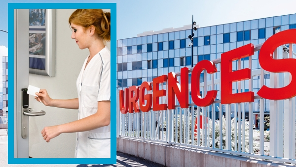 Wireless Aperio® locks and wired access control work together at this French hospital