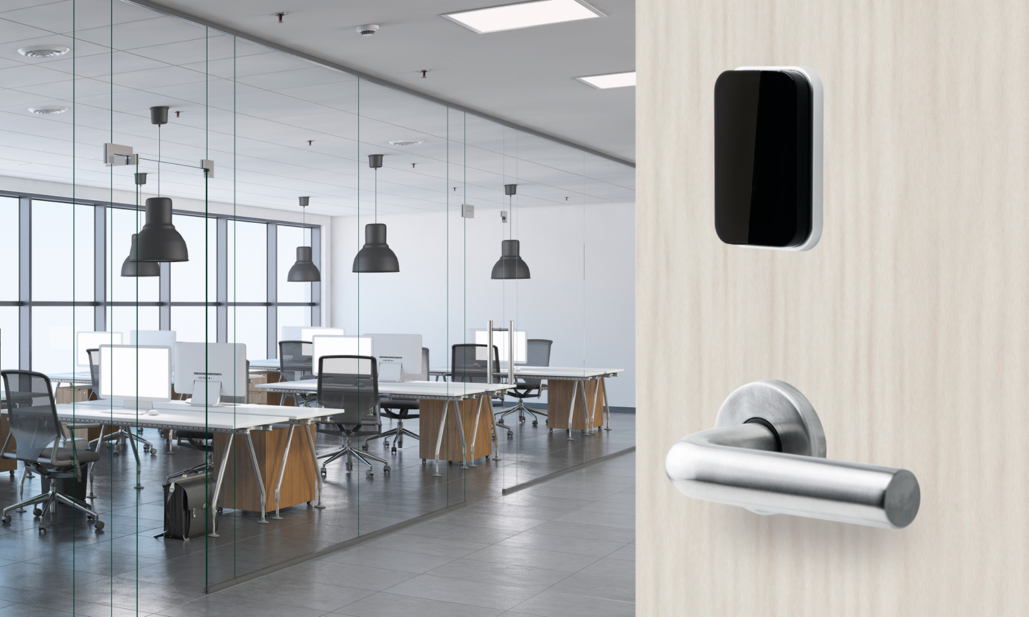 The new SMARTair® Lock puts advanced electronic access control into a familiar format