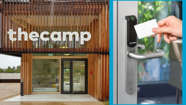 Real-time access management and device aesthetics make Aperio® and The Camp a perfect fit