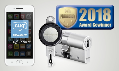 ASSA ABLOY won the Golden Protector 2018 for its mobile-ready mechatronic locking system, CLIQ® Connect