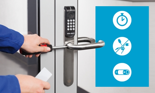 Aperio® stands for: More control. Increased Security. No Cables.