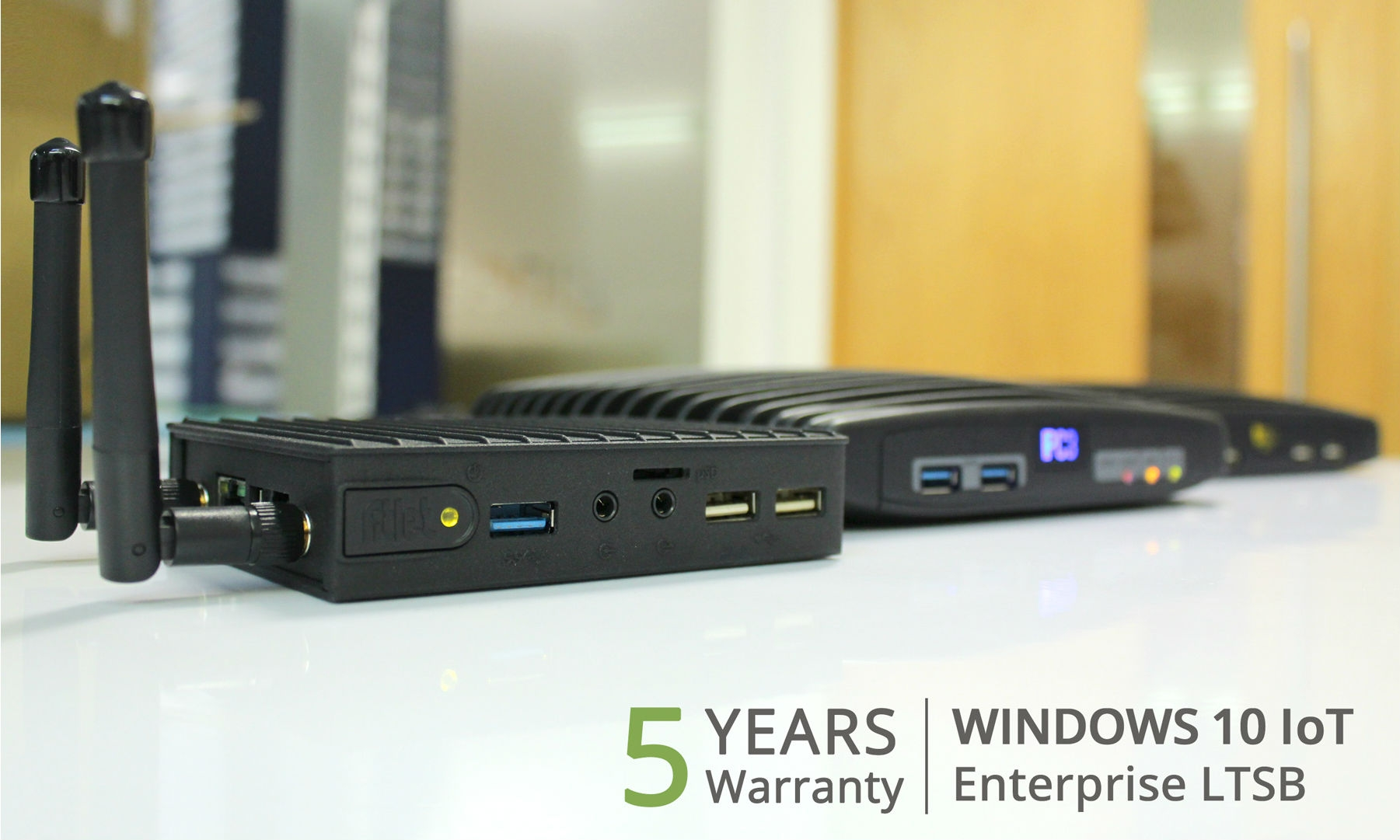 Tiny Green PC's Fanless PC with Windows 10 IoT Enterprise option