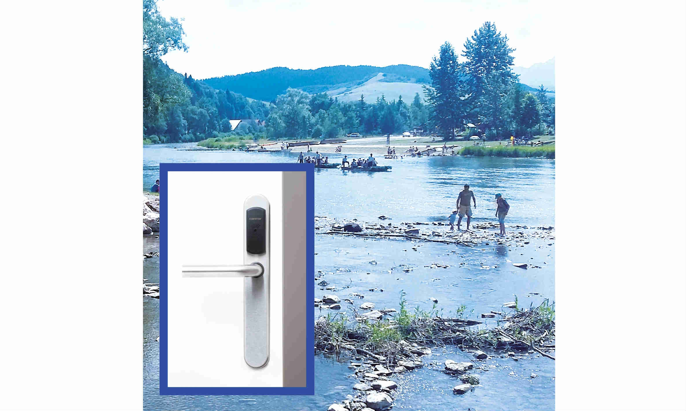 SMARTair™ access control stops unauthorised entry to a mountain campsite.